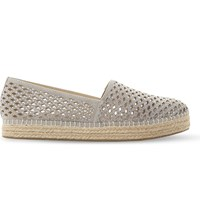 Steve Madden Prettty Laser Cut Espadrilles Grey Synthetic