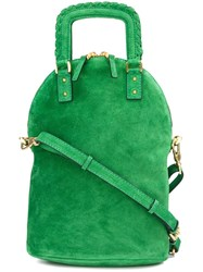 Barbara Bui Gold Tone Hardware Crossbody Bag Green