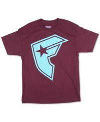 Famous Stars And Straps Famous Stars And Straps Men's Graphic Print T Shirt Burgundy