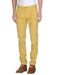 Camouflage Ar And J. Casual Pants Ocher