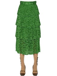 N 21 Tiered Cotton Lace Skirt