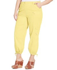 Styleandco. Style And Co. Plus Size Cargo Capri Pants Soft Sun