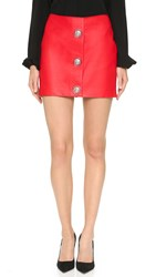 Versus Leather Miniskirt Red