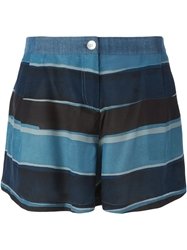 Armani Jeans Striped Shorts Blue