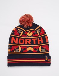 The North Face Ski Tuke Bobble Beanie Hat Blue