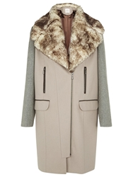Kaliko Colour Block Coat Neutral