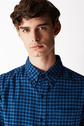 Band Of Outsiders Long Sleeve Button Down Shirt Blue Multi