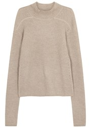 Rick Owens Stone Ribbed Cashmere Blend Jumper Pearl