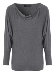 Jane Norman Grey Zip Shoulder Jumper