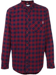 Carhartt Button Down Plaid Shirt Red