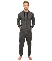 2Xist Terry Flight Suit Black Heather Men's Jumpsuit And Rompers One Piece