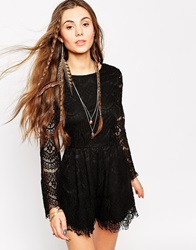 Kiss The Sky When Love Comes To Town Playsuit Black