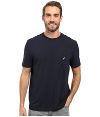 Nautica Short Sleeve Solid Anchor Pocket Tee Navy Men's T Shirt