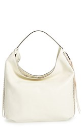Rebecca Minkoff 'Bryn' Studded Leather Hobo Bag White Antique White Black Hrdwr