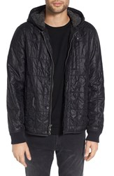 John Varvatos Men's Star Usa Lightweight Hooded Quilted Jacket