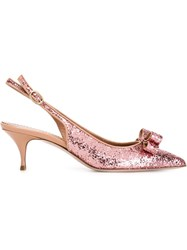 Red Valentino Slingback Glitter Pumps Pink And Purple