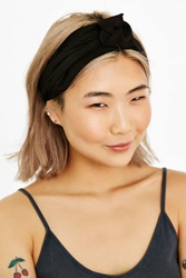 Urban Outfitters Sienna Knotted Silk Headwrap Black