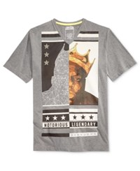 Sean John Men's Graphic Print T Shirt Heather Grey