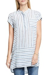 Vince Camuto Women's Two By Stripe Linen Tunic