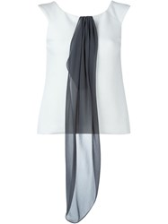 Armani Collezioni Foulard Detail Sleeveless Top White