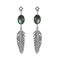 Brave Lotus Silver Of The Night Jewel Earrings