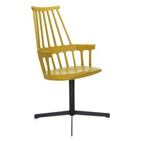Kartell Comback Swivel Chair Yellow