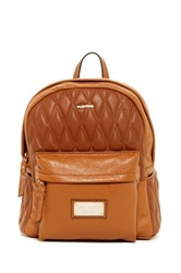 Valentino By Mario Valentino Quilted Diego Genuine Leather Backpack Brown