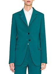 Jil Sander Vermeer Two Button Blazer Bright Green
