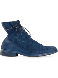 Guidi Lace Up Boots Blue