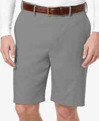 Pga Tour Men's Flat Front Expandable Shorts Asphalt