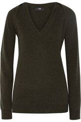 Line Randolph Wool And Cashmere Blend Sweater Green