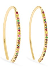 Ileana Makri 18 Karat Gold Multi Stone Earrings