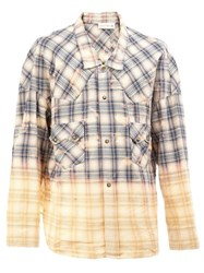 Faith Connexion Low Collar Checked Shirt Blue