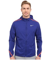 Nike Impossibly Light Jacket Hooded Deep Royal Blue Bright Crimson Reflective Silver Men's Coat Purple