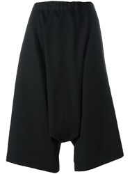 Comme Des Garcons Drop Crotch Shorts Black