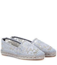Dolce And Gabbana Lace Espadrilles Grey