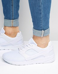 Asos Trainers In White Mesh With Rubber Panels White