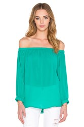 Blaque Label Off Shoulder Top Green