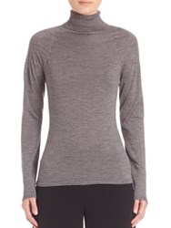 Escada Wool And Silk Turtleneck Sweater Grey Black