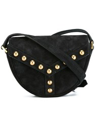 Saint Laurent 'Y Studs' Satchel Black