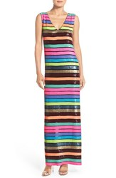 Women's Tracy Reese Stripe Sequin Gown