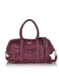 Zadig And Voltaire Beha Deep Dye Lilas Leather Satchel Bag Purple