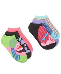 Planet Sox Women's 6 Pk. Trolls No Show Socks Neon