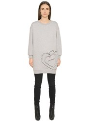Love Moschino Heavy Cotton Jersey Sweatshirt Dress