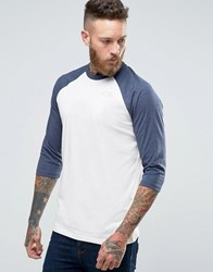 The North Face 3 4 Raglan Sleeve T Shirt Exclusive Ceq1 11P White