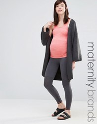 Mama Licious Mamalicious Lounge Over The Bump Legging Grey