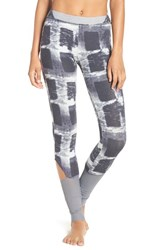 Free People Women's 'Hendrix' Cutout Print Leggings Grey Combo