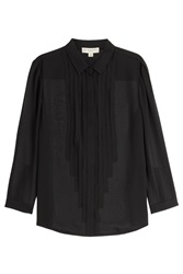 Burberry London Silk Blouse Black