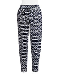 Design Lab Lord And Taylor Patterned Drawstring Pants