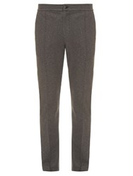 Atm Anthony Thomas Melillo Raw Edged Textured Jersey Trousers Grey